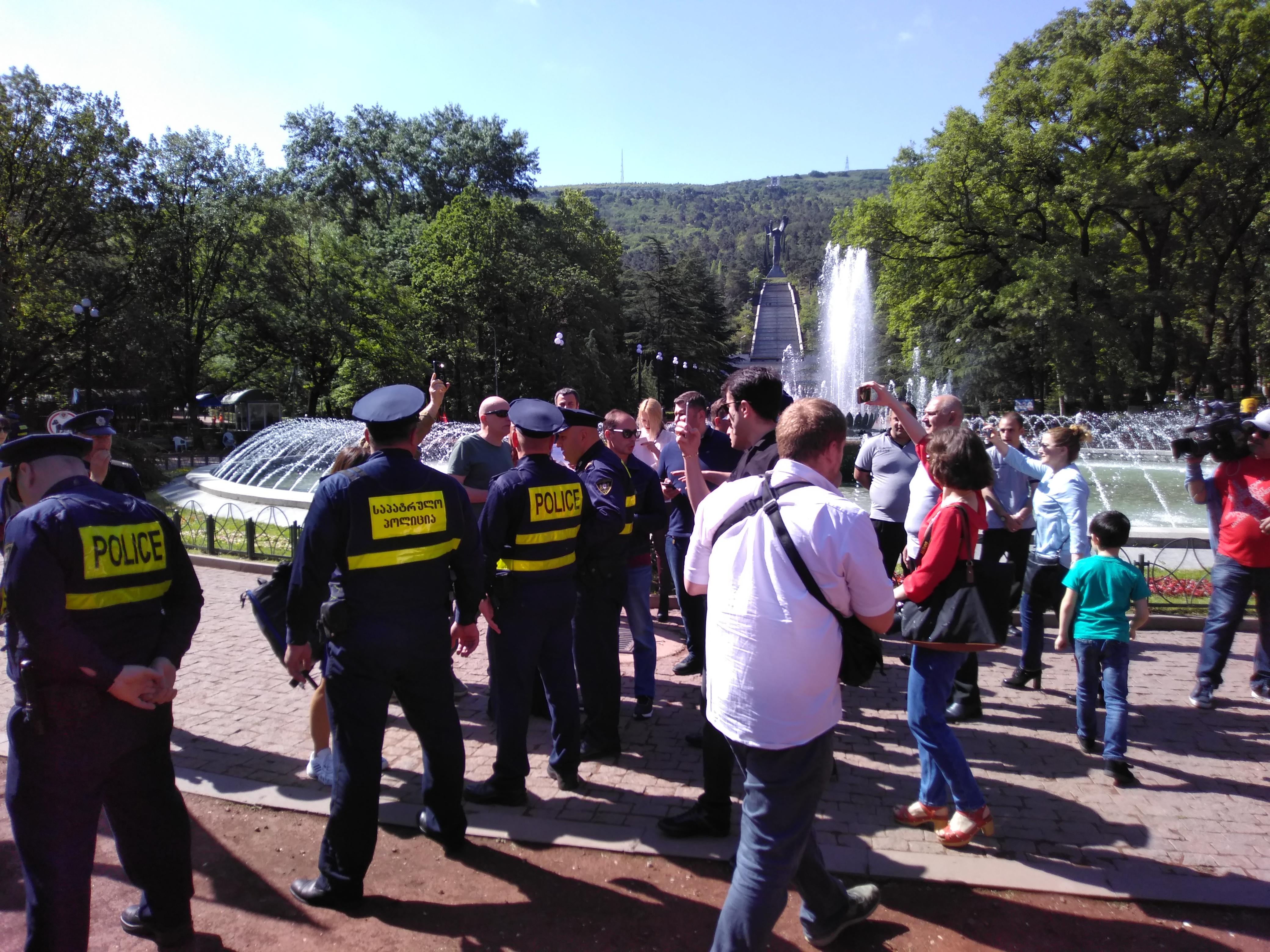 Антиакция националистов. ЕКПГ. 9 мая, 2018. Тбилиси