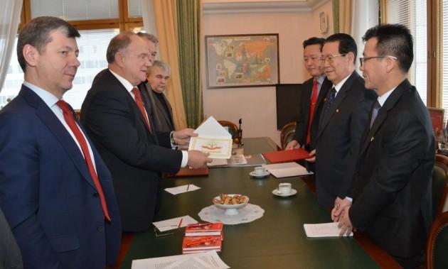 Новости КПРФ. Г.А. Зюганов встретился с послом КНДР в России Ким Хен Чжуном