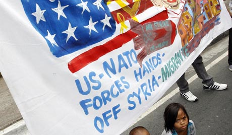 Filipinos protest US-NATO plans to strike Syria