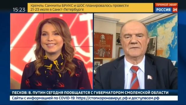 Новости КПРФ. Геннадий Зюганов в эфире телеканала «Россия 24»: «Надо приступать к работе, и как можно скорее». Видео