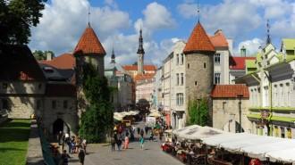 Эстония. Таллин. Вид на Старый город. (Фото: Владимир Смирнов/ТАСС)
