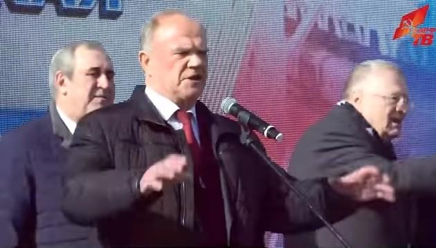 Новости КПРФ. Г.А. Зюганов на митинге в Симферополе: Да здравствует Крым и наша общая победа!