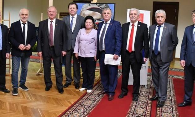 Новости КПРФ. Г.А. Зюганов выступил на открытии выставки «Созидающий труд»