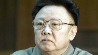 File photo of North Korean leader Kim Jong-il during a meeting with Sweden's Prime Minister in Pyongyang